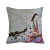 Plum Blossom Beauty Chinese Painting Polyester Toss Throw Pillow Square Cushion Gift pretty girl blue bird chinese painting polyester toss throw pillow square cushion gift