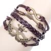 MyMei Хэллоуин многослойные плетеные браслеты , Винтаж корона бесконечности браслет, сплетенный многоцветный кожаный браслет & Браслет 62801 браслеты indira браслет бирюза коралл gl0143
