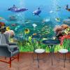 Пользовательские обои Mural Подводный мир 3D Стерео Детская комната Спальня Гостиная Телевизор Фон Стена 3D Photo Wallpaper пользовательские 3d росписи дерево зеленое ясное небо фон стена гостиная лобби фоном 3d стерео спальня ресторан обои