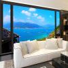 Пользовательские фотообои 3D-стереоскопический вид на море Современная минималистическая гостиная Нетканая роспись Обои для спальни для спальни 3D для спальни