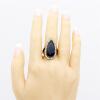Мода Женщины Обручальное кольцо Этнические ювелирные изделия Турецкая индийская свадебная капля воды Смола Кристалл Кольцо Антично