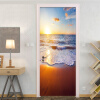 Пользовательские обои с надписью Красивый морской пейзаж 3D наклейка на двери ПВХ Влагозащитные обои Гостиная Домашний декор 3D 77cmx200cm плнка пвх на двери