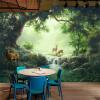 Пользовательские обои Mural 3D Лесная живопись маслом лосося Papel De Parede Гостиная Телевизор Диван Кафе Фон Обои Бумага Главная Декор Фрески стикс гель для лица розовый сад гидроинтенсивный 30 мл