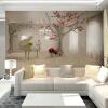 Пользовательские Any Size 3D Wall Murals Обои для гостиной Современная мода Красивые фото Фрески Дерево Стены Бумага Home Decor