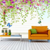 Eco-friendly Fiber Decor Wall Coating 3D Colorful Wall Paper Custom Any Size Green Tree Абстрактное искусство Mural Living Room 3D Fresco юбки regina style юбка page 2
