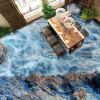 Бесплатная доставка Волны камень течет вода 3D гостиная ванная комната самоклеящиеся спальни офисная настенная роспись 250cmx200cm ванная