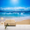 Пользовательские обои с настенной росписью для стен 3 D Blue Sky Ocean Beach Нетканые отпечатанные обои Гостиная Спальня Фото Обои для стен blue sky чаша северный олень