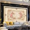 Пользовательские 3D обои настенные обои Европейский стиль 3D Стерео Рельеф Роуз Цветочные Фрески Обои Декорации Гостиная Спальня Обои пользовательские 3d обои для фото звездное небо потолочные фрески настенные покрытия декор гостиная спальня потолок фрески обои
