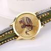 цена на SHENSEE® 2015 девочку Слон заклепки Браслет Кварцевые наручные часы плетеный обмотки обруча оптовые продажи