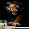 Пользовательские обои 3D Mural Современные простые животные Тигр Фотографии Стены Обои Ресторан Гостиная Вход Вход 3D-картина bondibon 3d картина животные