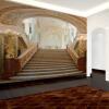 Пользовательские обои для фото Европейский 3D крыльцо коридор обои свадебная фотография золотой дворец лестницы обои фрески
