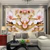 Пользовательские обои для настенной росписи для стен Roll 3D Relief Flower TV Обои настенные обои Домашний декор Гостиная Современная живопись т мные обои для стен где