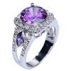 yazilind SZ # 7 - драгоценный камень серебряной годовщиной кристалл страз украшения колец обручальных колец женщин участие подарок 3 87218