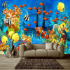 Фото обои 3D Стерео мультфильм Тропические рыбы Подводный мир Mural Обои Пользовательские нетканые обои Papel De Parede 3D