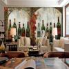На заказ 3D-роспись красных вин винный завод большой фрески бар западный ресторан кофе магазин фон обои ресторан кофе