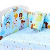 Как elephibab хлопковая кроватка трехкомпонентная съемная моющаяся кровать с набором детской кроватки 120 * 70 см (джунгли) wellber стельное белье для детской кровати 145x100cm