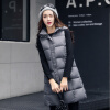 2017 Autumn and Winter New Arrival Women's Large Sized Hooded Long Vest Coat Cultivation Cotton-padded Sleeveless Jacket Cardigan new baby sleeping bag soft cotton autumn child sleep suit u collar baby sleepsacks dogs clothes autumn winter