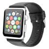 Би Диас (BIAZE) яблоко ремешок часов кожа подходит для Watch1 / Series2 / Series3 Crazy Horse зерна кожаный ремень 42mm- черный