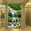 Пользовательские обои для фото 3D Водопады Лес Природа Пейзаж Фрески Гостиная Вход в отель Фон Стена Картина Домашний декор пользовательские обои фрески 3d hd лесной рок водопад фотография фон стена картина гостиная диван фото mural обои
