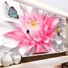 Пользовательские обои 3D Mural Современные романтические розовые цветы Бабочка Фотография Стена Живопись Mural Гостиная Спальня Фон Стена 3 D пользовательские обои фрески 3d hd лесной рок водопад фотография фон стена картина гостиная диван фото mural обои