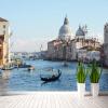 Пользовательские 3D-фотообои Обои для рабочего стола Город на воде Европейский стиль Строительство Тема Wall Paper для гостиной Телевизор диван