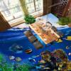 Бесплатная доставка Эстетичный морской мир Дельфин пол обои гостиная туалет кухня самоклеящиеся пол фрезы 250cmx200cm бесплатная доставка ground floor sky penguin3d этаж фона домашнее украшение самоклеящиеся обои пол обои mural 250cmx200cm