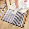 Богатый рейтинг (FOOJO) печать коралловые коврики бархат скольжения Doormat кухня коврик для ванной 40 * 60см современные полосы