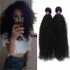 Фото 4Pcs Brazilian Kinky Curly Hair Weaves Natural Black Color 7A Brazilian Curly Virgin Human Hair Weave Virgin Curly Human Hair