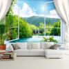 Пользовательские обои настенные обои 3D стереоскопические окна Пейзаж фона Обои на рабочий стол Обои для гостиной Papel De Parede 3D