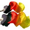 качества 100% шелковые вуали Вентиляторы 1шт левые вентиляторы + 1шт правые вентиляторы Черный + красный + оранжевый + желтый