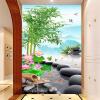 Пользовательские обои для фото Китайский стиль Бамбук Лотос Пейзаж Гостиная Вход Фон Обои Украшение стен Обои обои для стен в нижнем онлайн