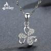 Единственный (Вини) 925 серебряный кулон серебряное ожерелье цепь ключицы Япония и Южная Корея отправить его подруга подарок на де бао фиолетовый мягкий край серебряный кулон ожерелье женские модели корейской моды ключицы цепи