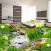 Бесплатная доставка Park Landscape Grassland Water Carp 3D Floor Painting Спальня гостиная ванная комната настенная роспись 250cmx200cm ванная