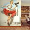 Marilyn Monroe Retro Wallpaper Custom European Style Movie Star Настенная панно для постельных принадлежностей custom european style wallpaper marilyn monroe for the sitting room the bedroom tv setting wall vinyl which papel de parede