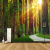 3D обои Первичный лес Саншайн фотообои Гостиная Спальня Ресторан Заставка Декор Фреска Обои для стен 3 D декор для стен
