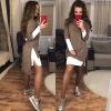 2017 Мода Женщины Повседневная одежда Осень Зима Высокое качество Повседневная одежда для женщин Сексуальное теплое мини платье одежда для женщин