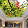 3D обои для стены Custom Nature Scenery Wall Covering Green Tree Leaves Потолочная стена Mural Home Decor Backdrop Wallpaper