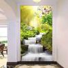 Пользовательские 3D-обои для фото Papel De Parede Forest Sunshine Waterfall Running Water Гостиная Входные стены Стены Бумага 3D пользовательские фото обои bamboo forest art wall painting living room tv background mural home decor обои papel de parede 3d