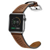 Би Диас (BIAZE) яблоко ремешок часов кожа подходит для Watch1 / Series2 / Series3 сетка отверстие коричневый кожаный ремень 38mm-