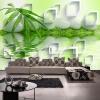 Пользовательские обои 3D Mural Современные 3D стереоскопические бамбуковые камни Настенные украшения Гостиная Спальня Обои Papel De Parede пользовательские современные простые белые цветы mural обои гостиная спальня интерьер уютный декор обои roll papel de parede цветочный