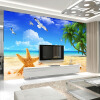 Пользовательские 3D-обои для фотографий Средиземноморский стиль Украшение Mural Beach Sand Starfish Sofa TV Background Wall Painting Wallpaper custom size photo retro brick wall wallpaper black and white graffiti wall painting wallpaper mural