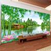 Пользовательские обои для фото 3D Bamboo Lotus Природа Пейзаж Фрески Гостиная Телевизор Диван-фолд Декорация стены Papel De Parede 3 D Sala пользовательские фото обои bamboo forest art wall painting living room tv background mural home decor обои papel de parede 3d