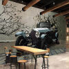 3D обои Vintage Car Broken Wall Photo Mural Modern Retro Restaurant Cafe KTV Bar Креативный дизайн Декор Нетканые обои creative chandelier cafe bar bar restaurant lounge ktv single headed personality retro bottle decorative lamps
