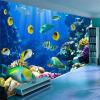 Пользовательские 3D обои настенные обои Подводный мир Fish Coral Большие стены Картина Гостиная Кровать Номер Стены Главная Декор Фрески пользовательские 3d росписи большие фрески 3d ложное окно за пределами стены сада обои гостиная роза цветы wallparer mural