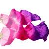 Любители танцев100% Шелковые вентиляторы Цветные 180 см Женщины Танец живота Шелковые вентиляторы 2pcs Розовый+розовый+фиолетовый вентиляторы