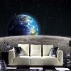 Современные фотообои Star Earth Universe Moon 3D Large Mural Гостиная Ресторан TV Диван Фон Обои настенные обои