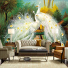 Пользовательские обои 3D Mural Красивый белый павлин Лесной пейзаж Живопись Fresco Living Room Ресторан Спальня Искусство обои бумажные обои fresco dimensional effects td4700