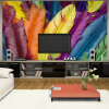 Пользовательские современные креативные настенные росписи 3D-обои для фото на стене Перо масляная живопись Гостиная Диван-фон Фронт Wallcoverings масляная живопись yue hao yh0334 7585
