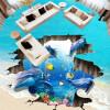 Бесплатная доставка 3D потрясающий подводный мир дельфин паста пол носить ванную комнату спальни лобби настил фрески 250cmx200cm