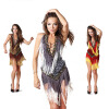 Сексуальная дешевая латинская танцевальная одежда Женская профессиональная латинская юбка Платья латыни Сальса танец  Сальса